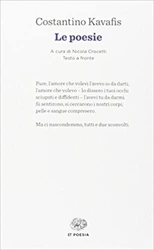 """Raccolta di poesie del poeta greco Costantino Kavafis che contiene """"Itaca"""", pubblicata in Italia dalla casa editrice Einaudi."""